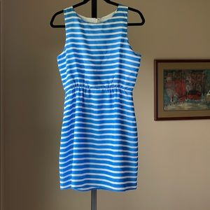 J Crew PETITE silky sleeveless dress.